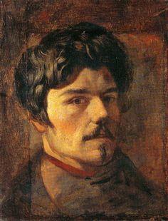 Eugène Delacroix  (Charenton-Saint-Maurice, 1798 - 1863, Paris)     Self-Portrait     Oil on canvas. 36 x 28 cm.   ca. 1830/35