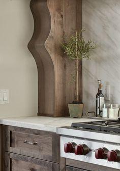 Kitchen Cabinet Ideas. Wood Kitchen Cabinet. The cabinet and hood in this kitchen is alder. #Kitchen #KitchenWoodCabinet Veranda Estate Homes & Interiors