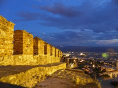 Heptapyrgion Thessaloniki - Castle by Thomas Vesis on Zorba The Greek, Greece Travel, Castles, Monument Valley, Sailing, Places To Visit, Tower, History, Night