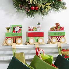 These Christmas Stocking Holders are so stinkin' cute! LOVE LOVE LOVE that you can personalize one for each family member!