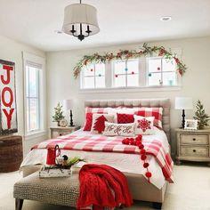 Master Bedroom Plans, Master Suite, Teen Bedroom, Bedroom Themes, Bedroom Decor, Bedroom Ideas, Design Bedroom, Christmas Bedding, Cozy Christmas