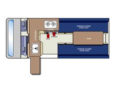 toyota hiace campervan layout - Google Search