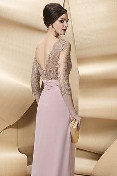 Vestido largo de madrina modelo A1703 de Angela Ariza by Higar Fiesta | Boutique Clara