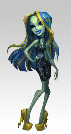 ♥ Monster High ♥ Ever After High ♥: Photo Monster High Art, Monster High Dolls, Ever After High, Character Art, Character Design, Personajes Monster High, Ever After Dolls, Cartoon Monsters, Mermaid Tattoos