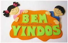 modelo cartaz bem vindos escola  (1) Kids House, Education, Disney Princess, Disney Characters, Children, Crafts, Biscuit, Spanish, Ideas