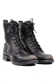 Frye Veronica Combat Boot Black