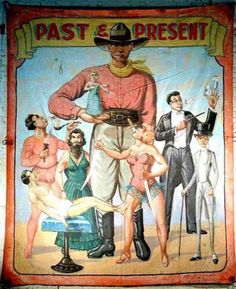 Old Circus or Sideshow poster