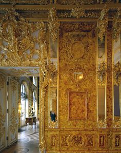 Katherine Palace: Amber Room detail