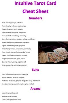 Want to learn tarot but having a hard time memorizing all 78 cards? own load my cheat sheet and have everything that you will need& The post FREE Intuitive Tarot Cheat Sheet appeared first on Cherise on Attraction. Reiki, Tarot Cards For Beginners, Tarot Card Spreads, Tarot Astrology, Astrology Chart, Tarot Card Meanings, Les Sentiments, Tarot Readers, Psychic Readings