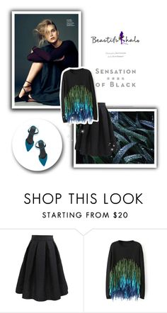 """""""Beautifulhalo"""" by sabine-rose ❤ liked on Polyvore featuring Nico, Vision, ASOS, women's clothing, women, female, woman, misses, juniors and GREEN"""