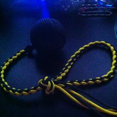 Cue ball with 4 strand braid handle 4 Strand Braids, Paracord, Monkey, Handle, Jumpsuit, Monkeys, Parachute Cord, Door Knob, At Sign