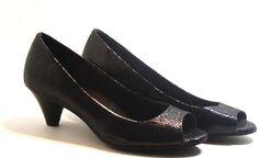 Giani Bernini Soria Peep Toe Pump Shoes Beechwood, Black, Size 5.5M #GianiBernini #OpenToePumps http://stores.ebay.com/ECLECTIC-GOODIES-EG
