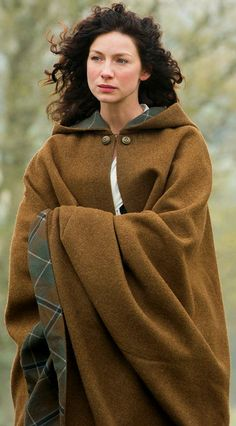 Claire's beautiful cloak | Outlander S1E8 'Both Sides Now' on Starz | Costume Designer TERRY DRESBACH www.terrydresbach.com