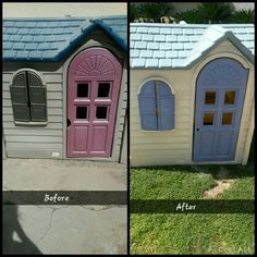 Diy repainting an old little tikes playhouse