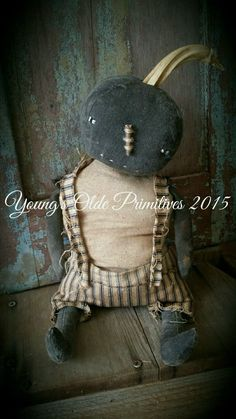 Primitive Black Pumpkin Doll JOL FALL Halloween #NaivePrimitive