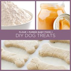 Flour + Pureed Baby Food = DIY Dog Treats