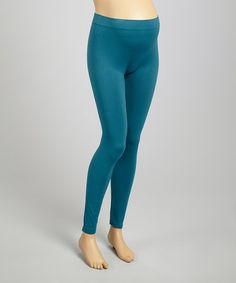 This Teal Seamless Maternity Leggings is perfect! #zulilyfinds