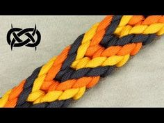 How to make a Plaited Chevron Sinnet Paracord Bracelet - YouTube