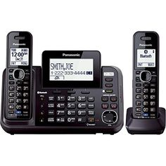 http://www.officeproductsideas.info/panasonic-kx-tg9542b-link2cell-bluetooth-enabled-2-line-phone-with-answering-machine-2-cordless-handset-review/ - The Panasonic KX-TG9542B DECT 6.0 Plus 2-Line Link2Cell Bluetooth Enabled Answering System with base keypad and 2 cordless handsets allows...