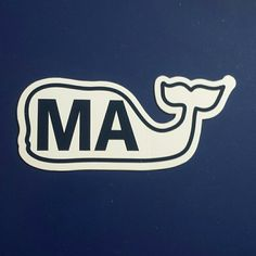 Vineyard Vines MA whale sticker/decal MA for ma, moms day, Maine, mary alice.... Vineyard Vines Other