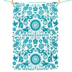 cloth-ears - Folklore Owl Tea Towel by Wild & Wolf