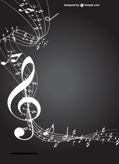 Clave de sol blanco y negro Vector Free of charge . Music Drawings, Music Artwork, Musik Wallpaper, Musik Illustration, Music Notes Art, Music Music, Music Symbols, Silhouette Clip Art, Music Backgrounds