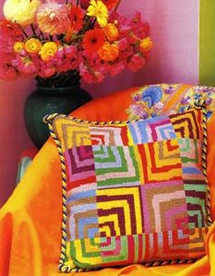 Knitter Extraordinaire Kaffe Fassett   | CASHON & CO.  great little blog blurp on some of Kaffe's influential designs.    needlepoint pillow design.