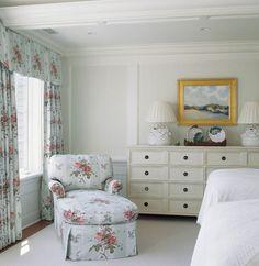 Chatham Bedroom - traditional - Bedroom - Dc Metro - Pamela Gaylin Ryder, Inc Japanese Style Bed, Floral Bedroom Decor, Cape Cod Style House, Oriental Furniture, New England Homes, Elegant Living Room, Traditional Bedroom, White Houses, Elegant Homes