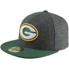Men's New Era Green Bay Packers Melton Basic 59FIFTY? Structured Fitted Hat by New Era. $34.39. Team logo embroidered on front; NFL® Shield on backContrast-colored flat bill and top button. Eyelets for ventilation Officially licensed Made in China. Fitted hat. 80% polyester, 20% wool. Keep your head toasty warm and full of spirit in this men's New Era® Melton Basic 59FIFTY® structured hat! The fitted cap displays your favorite team's logo embroidered on the front and th...