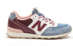 Fashion New Balance WR996UD Peach Dusty blue brown Women shoes