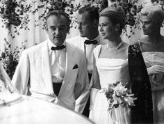 Grace et Rainier avec la soeur de Grace Lizanne et son époux Mr LeVine