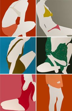 Natasha Law - great cropped figure study. Composition - get students to crop fashion mag pics to form a dynamic composition - then reduce down to basic forms with limited colour palette yrs 9-11