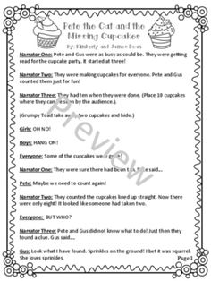 """Reader's Theater Script of """"Pete the Cat and the Missing C"""