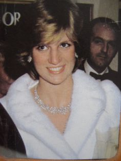 """March 8, 1982: Princess Diana at the charity premiere of """"The Little Foxes"""" starring Elizabeth Taylor, at the Victoria Palace Theatre in London."""