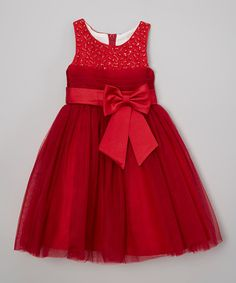 Red Beaded Dress - Toddler & Girls #zulily #zulilyfinds