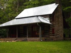 Asheville Vacation Rental - VRBO 267573 - 2 BR Smoky Mountains Cabin in NC, 1890's Historic Log Cabin, Bold Creek, 6 Acres, 15 Min to Downtown