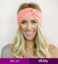 517b1bd733c Women Yoga Elastic Twisted Turban Knot Head Wrap Headband Hair Band  Accessories