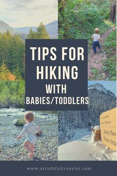 Hiking with small kids can be fun! Find out my top 30 tips for hiking with a baby and hiking with a toddler, based on my experience with my son! List includes hiking essentials! Canada Travel, Travel Usa, Travel Tips, Travel Destinations, Oregon Travel, California Travel, Hawaii Travel, Baby Hiking, Hiking With Kids