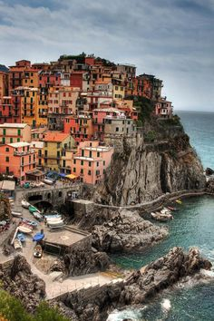 Cinque Terre, Italy. Oh yeah, I'm going there tomorrow.