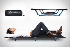 After a good day hiking, nothing is more appreciated than a good nights rest. Helinox are experts in lightweight outdoor adventure equipment, their Cot One moves the outdoor adventurer up to the next level of comfort, it is one very strong, stable and comfortable camp bed. It features Helinox´s unique tension system that provides a strong support and quick, simple set up.