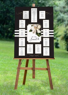 *NEW 2015 COLLECTION!*  This seating chart is perfect for a Modern Cocktail Wedding! This is designed to compliment our Magnolia Blush invitation