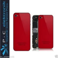 Brandneu! iPhone Backcover 4S in 5C Optik, inkl.Werkzeug,Rot Deutscher Händler