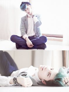 Love the muted colors, and what a great shirt/jacket combo! Not to mention that gorgeous pastel hair and posing!