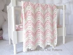 Easy Crochet PATTERN 55 - Chevron Series - Baby Blanket PATTERN 55 - Crochet Symbol Pattern - Instant Download PDF