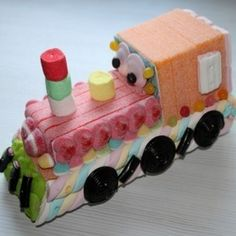 Locomotive en bonbons 3D