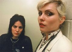 Joan Jett and Debbie Harry: idols.