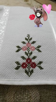 This Pin was discovered by Eli Cross Stitch Sea, Cross Stitch Letters, Cross Stitch Borders, Cross Stitch Flowers, Cross Stitch Designs, Cross Stitching, Cross Stitch Embroidery, Baby Knitting Patterns, Stitch Patterns