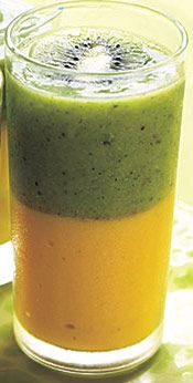 Mango Kiwi Smoothie - Meal Replacement!! Looks sooo tempting!!! O.O