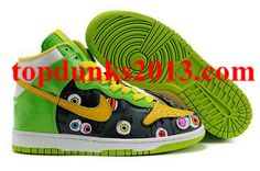 info for f6442 d4895 Mens Nike Dunk High Shoes BlackGreenYellowWhite Cartoon For  Sale,Jordans For Cheap,Nike Air Max Shoes,Cheap Jordan Shoes