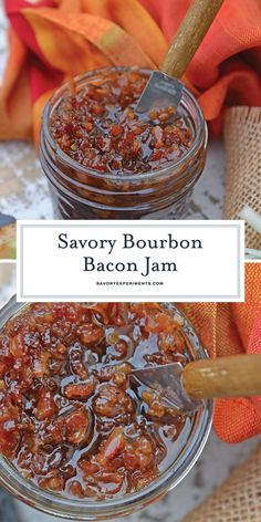 Bourbon Bacon Jam – The Most Versatile Condiment! My Bourbon Bacon Jam Recipe will change the way you see jam. This jam is sweet and savory and also happens to be the most versatile condiment around. Bacon Recipes, Homemade Jam Recipes, Bourbon Recipes, Recipes With Brie Cheese, Bacon Meals, Oven Bacon, Bourbon Sauce, Bacon Jam, Gluten Free Vegan